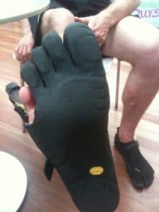 Vibrams five finger shoes 5