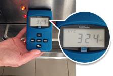emf meter reading oven
