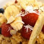 healthy breakfast coconut quinoa porrige