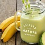 creamy banana smoothie 180 nutrition